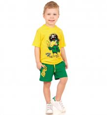 Купить комплект футболка/шорты апрель карибский берег, цвет: желтый/зеленый ( id 10486448 )