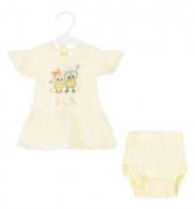 Купить комплект платье/трусы три медведя, цвет: желтый 806 к