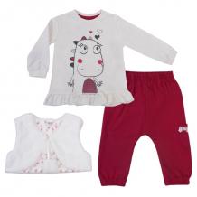 Купить комплект джемпер/жилет/брюки kidaxi ловец снов, цвет: малиновый 72027