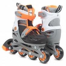 Купить ролики n.ergo n-083qh размер30-33, цвет: оранжевый/черный ( id 12009280 )