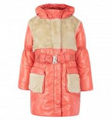 Купить пальто ursindo пушок, цвет: коралловый ( id 7115743 )