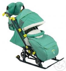 Санки-коляска Nika Kids Ника детям 7-3/3, цвет: зеленый ( ID 6827707 )