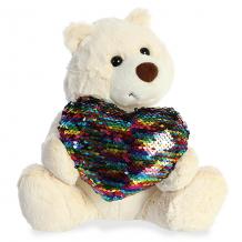 Купить aurora 190114b аврора медведь большое сердце кремовый 30 см.