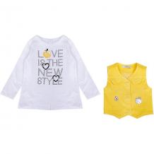 Купить комплект: футболка с длинным рукавом и жилет birba для девочки 10964350