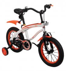 Купить двухколесный велосипед capella g14bm, цвет: белый/оранжевый ( id 5632477 )