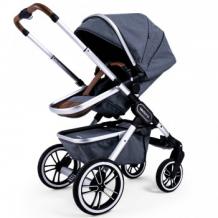 Купить коляска 2 в 1 teutonia trio melange grey на шасси серебряного цвета, cерый меланж teutonia 997136694