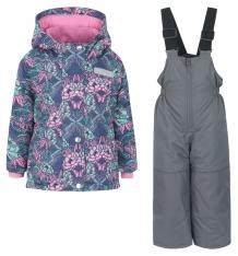 Купить комплект куртка/полукомбинезон salve by gusti, цвет: серый/розовый ( id 9819831 )