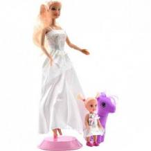 Купить игровой набор defa мама+дочка с пони и аксессуарами, в белом платье ( id 11236922 )