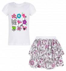 Купить комплект футболка/юбка koala, цвет: белый ( id 8153491 )