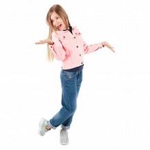 Купить куртка джинсовая fun time, цвет: розовый ( id 11576776 )