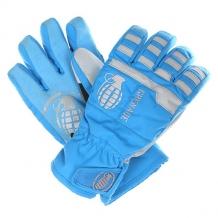 Купить перчатки сноубордические детские grenade fragment gloves blue голубой,серый ( id 1130204 )