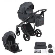 Купить коляска 2 в 1 adamex cristiano, цвет: черный ( id 11611114 )