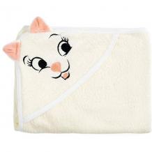 Купить полотенце с капюшоном кошки fun dry, twinklbaby, светло-бежевый с персиковыми ушками 7189311