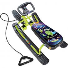 """Купить снегокат nika-kids """"тимка спорт 1"""" пришельцы, чёрный/зелёный ( id 10036999 )"""