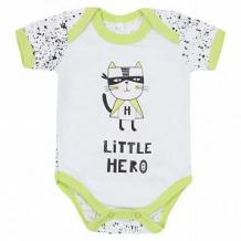 Купить боди leader kids маленький супергерой, цвет: белый ( id 11657236 )