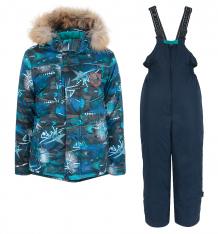 Купить комплект куртка/полукомбинезон kvartett, цвет: бирюзовый ( id 9585375 )