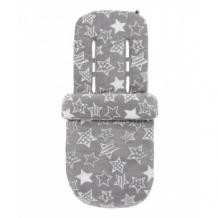 Купить конверт для ног с рисунком звезды, цвет серый mothercare 8080569