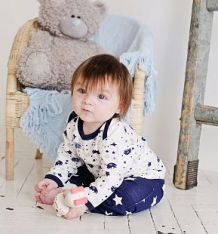 Комплект джемпер 3 шт Lucky Child Мужички, цвет: синий ( ID 1115900 )