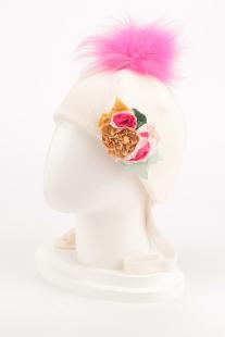 Купить шапка с завязками monnalisa bimba 196028 6732 0002