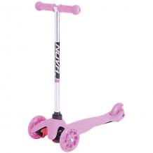 Купить трехколесный самокат novatrack disco-kids со светящимися колесами, нежно-розовый ( id 11025034 )