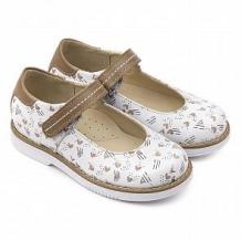 Купить туфли tapiboo, цвет: белый/коричневый ( id 12346582 )