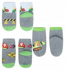 Купить носки 3 пары yo!, цвет: серый/салатовый ( id 10263278 )