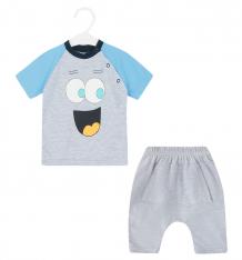 Купить комплект футболка/шорты aga smile, цвет: серый ( id 8844925 )
