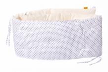 Купить бортик в кроватку honeymammy dots white 180x25 см sb-dw-16
