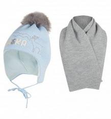 Купить комплект шапка/шарф ewa alaska, цвет: голубой ( id 9804735 )