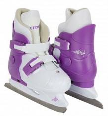 Купить коньки фигурные action sport pw-219 размер:29-32, цвет: белый/фиолетовый ( id 7356661 )