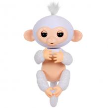 Купить fingerlings 3763m интерактивная обезьянка шугар (белая),12 см