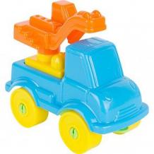Конструктор Полесье Юный путешественник - Автомобиль-кран (8 элементов) (в пакете) голубая ( ID 5478703 )
