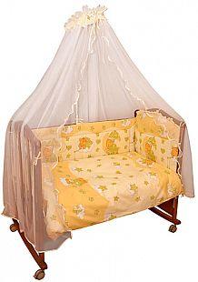 Купить комплект постельного белья сонный гномик мишкин сон, цвет: желтый 7 предметов ( id 3129878 )