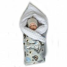 Купить комплект на выписку миша slingme, цвет: синий комбинезон/одеяло/шапка/снуд/бант 90 х 90 см ( id 12797974 )