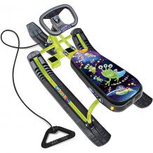 """Купить снегокат nika-kids """"тимка спорт 2"""" пришельцы, чёрный/зелёный ( id 7221254 )"""