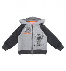 Купить толстовка kiki kids baby boy, цвет: серый kdd-8225/sza/080