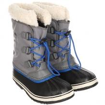 Купить сапоги зимние детские sorel yoot pac nylon city an grey серый,черный 1165191