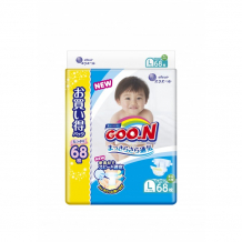 Купить goon подгузники l (9-14 кг) 68 шт. 853182/853503