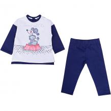 Купить комплект: футболка с длинным рукавом и леггинсы birba для девочки 10966081