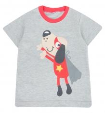 Купить футболка mm dadak бум, цвет: серый ( id 8168197 )