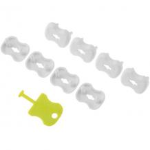 Купить набор заглушек для розеток roxy-kids 8 шт, белый 8393501