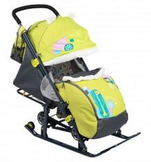 Санки-коляска Nika Kids (7-2), цвет: коллаж-жираф/лимонный ( ID 6510715 )