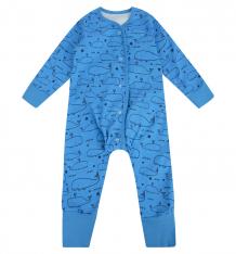 Купить комбинезон bambinizon киты, цвет: голубой 5848033
