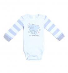 Купить комплект боди/брюки/слюнявчик play today пингвиненок и ко, цвет: белый/серый 587854