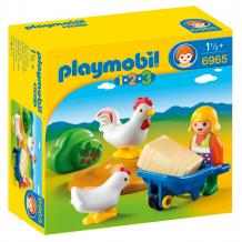Купить конструктор playmobil 1.2.3.: жена фермера с курочками 6965pm