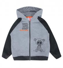 Купить толстовка kiki kids baby boy, цвет: серый ( id 9591273 )