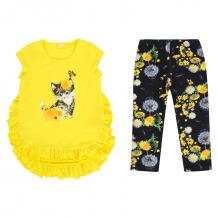 Купить комплект футболка/леггинсы апрель солнечный город, цвет: желтый/синий д2дб356
