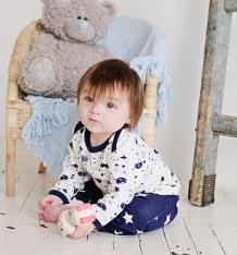 Купить комплект джемпер 3 шт lucky child мужички, цвет: синий ( id 1115636 )