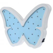 Купить светильник настенный ночной лучик «бабочка», голубой ( id 12370854 )