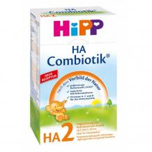 Купить hipp молочная смесь гипоаллергенная га2 сombiotic 6-12 мес., 500 г 2183